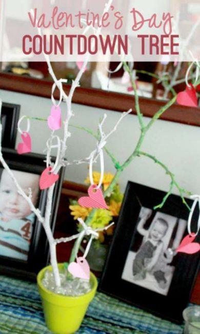 Valentine's Day Countdown Tree