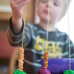 Such a basic idea for a threading activity! for toddlers!