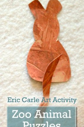 Zoo Animal Puzzles: Eric Carle Art Activity