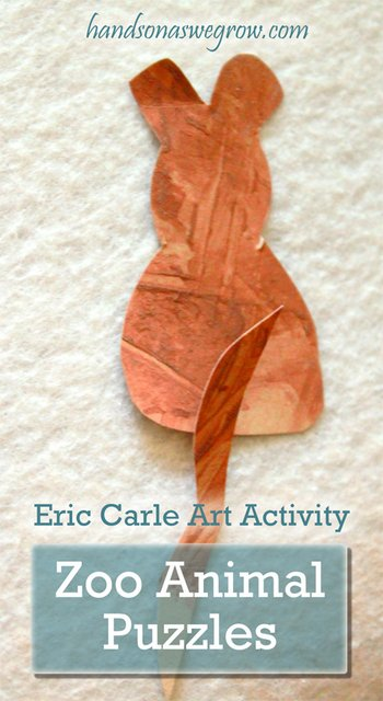Zoo Animal Puzzles: Eric Carle Art Activity