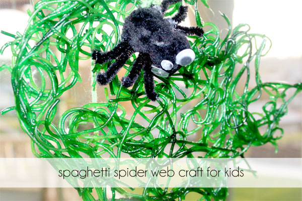 spaghetti-spider-web-craft-for-kids