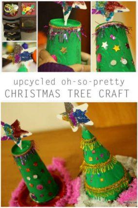 upcycled christmas tree craft