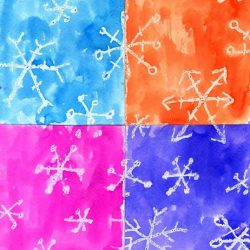 Experiment with color and water resistance using this idea from Art Projects for Kids