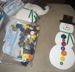 Count buttons with a sweet snowman from Kindergarten Hoppenings