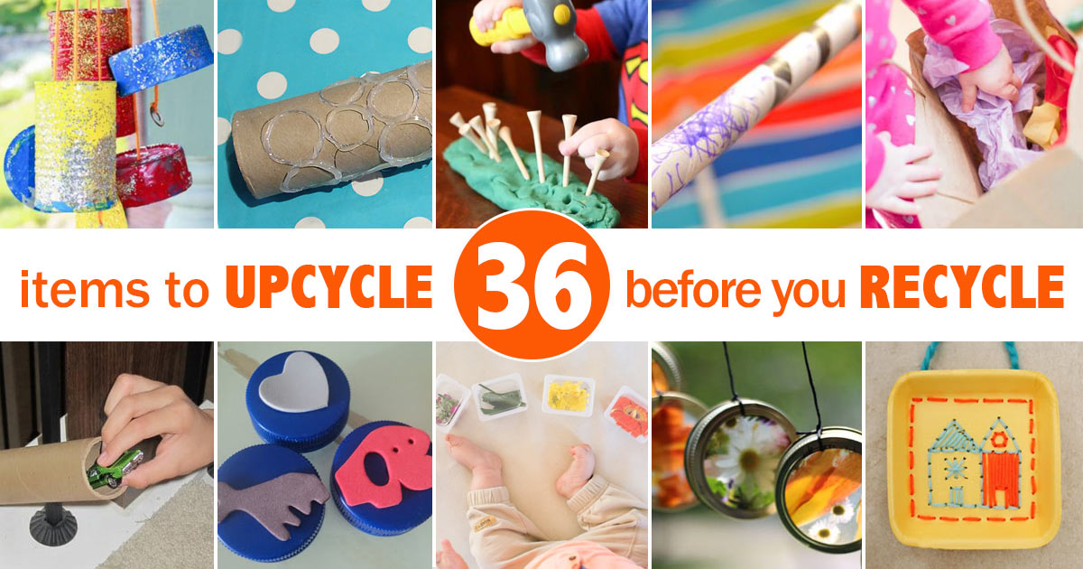 36 Upcycled Kids Crafts Activities To Make Hands On As We Grow