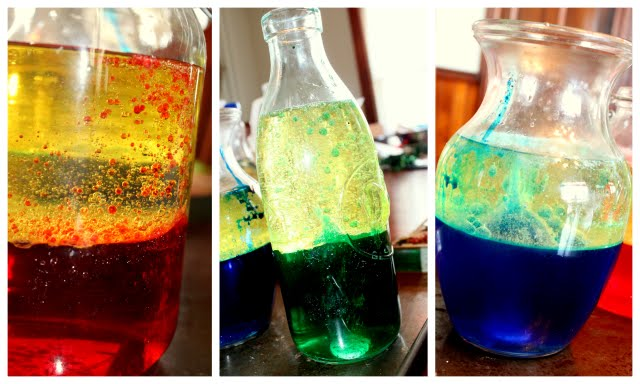 make a lava lamp science experiment for preschoolers