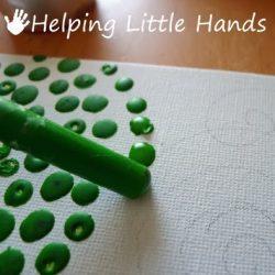 crayon dots
