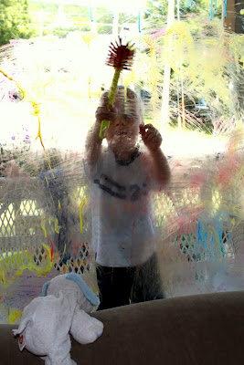 Window painting can be super fun and easy with a DIY paint recipe