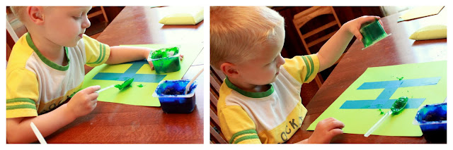 Homemade edible finger paint is perfect for toddler art activities!