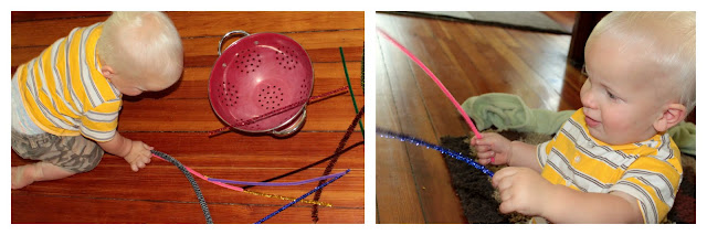 Pipe cleaners are fun for babies, too!