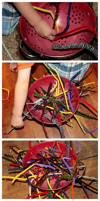 Keep kids busy with a no prep fine motor pipe cleaner activity!