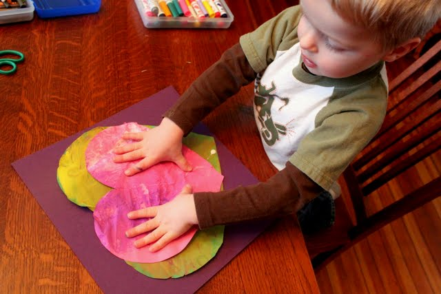 creative kids art for Valentine's Day