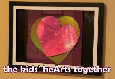creative kids art for Valentine's Day