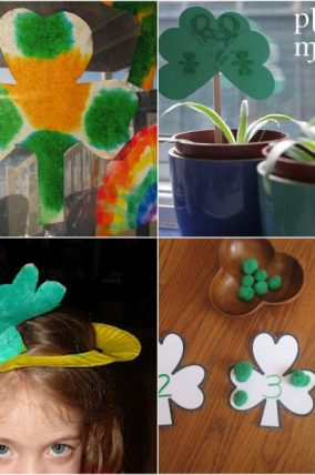 Shamrock Kids Crafts, Art, and Learning Activities