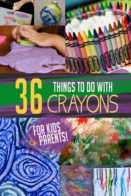 Go beyond coloring with 36 creative things to do with crayons!