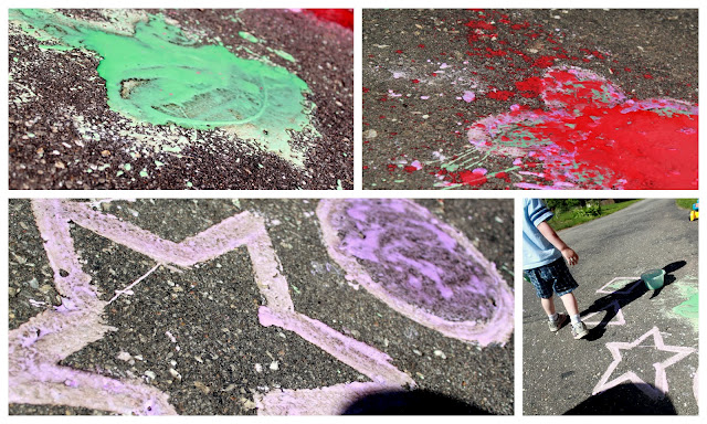 Draw shapes, pictures, and swirls with your DIY chalk paint!