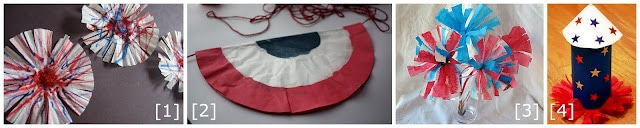 4th of July Coffee Filter Crafts