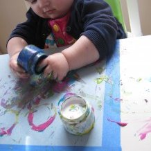 Baby Lego Painting Activity