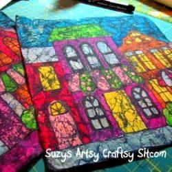 crayon batik fabric