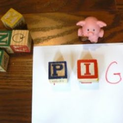 Spelling with ABC Blocks Activity for Kids