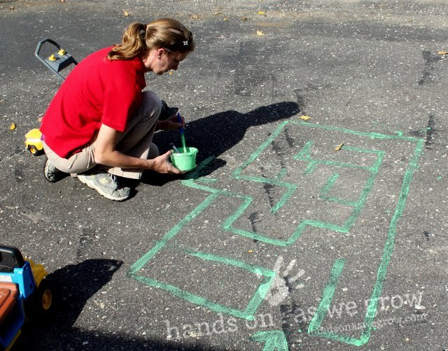 Make your own maze with a simple DIY chalk recipe!