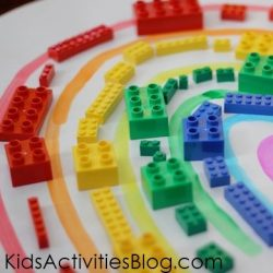 Lego Rainbow Activity for Kids