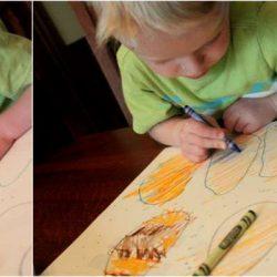 Crayon Resist Coloring Eggs