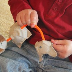 egg carton fine motor play