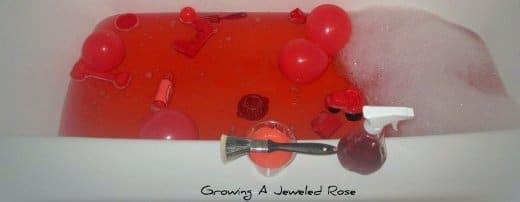 Color Themed Sensory Bath