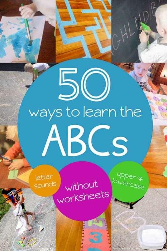 50 Simple Alphabet Activities For Preschoolers Hands On As We Grow®