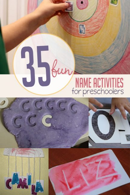 Check out these fun and different name activities for preschoolers!