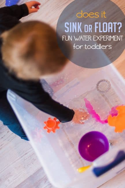Try a fun toddler science experiment to learn what might sink or float!