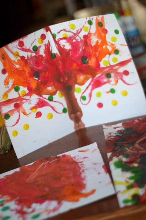Try this fall painting project to teach symmetry and enjoy autumn colors!