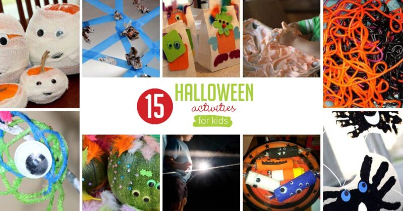 Halloween offers so much opportunity to do themed activities for kids! Here are 15 simple Halloween activities that preschoolers will love!