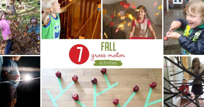 7 super simple gross motor activities that are perfect for fall! These physical activities are sure to be winners with your kids this autumn!