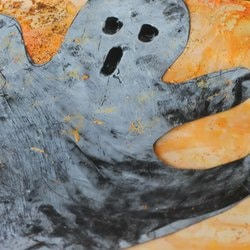 Shaving Cream Puffy Paint Ghost