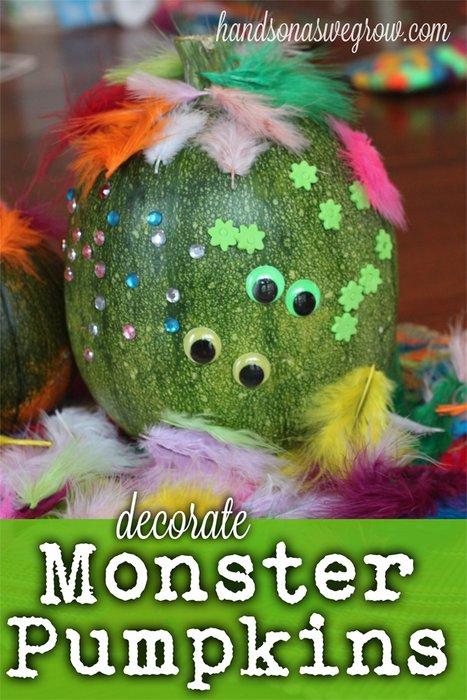 Decorate a Monster Pumpkin