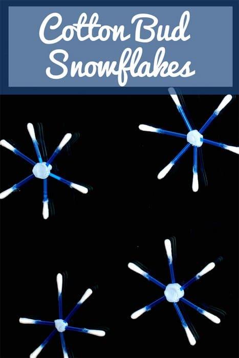 Q-tip Cotton Bud Snowflakes