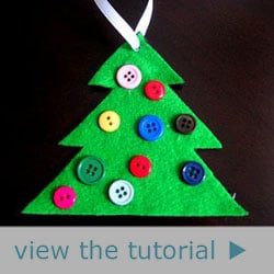 Homemade Christmas Tree Button Ornament