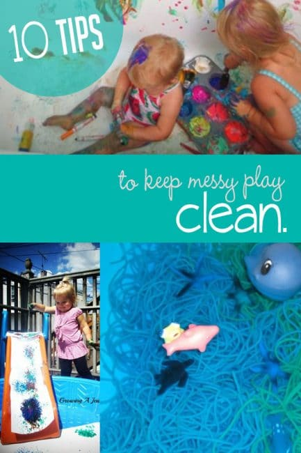 Enjoy messy play with these easy tips to help keep the mess to a minimum!