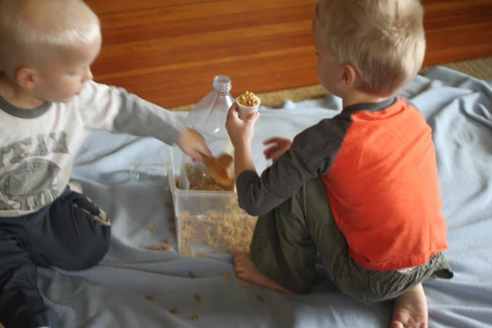Pasta Noodle Sensory Bin Activity