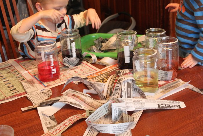 Water Activity with Newspaper