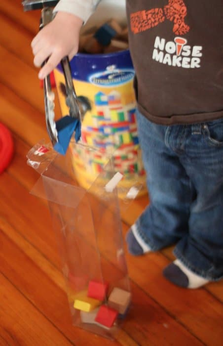Fine Motor Block Activity for Toddlers