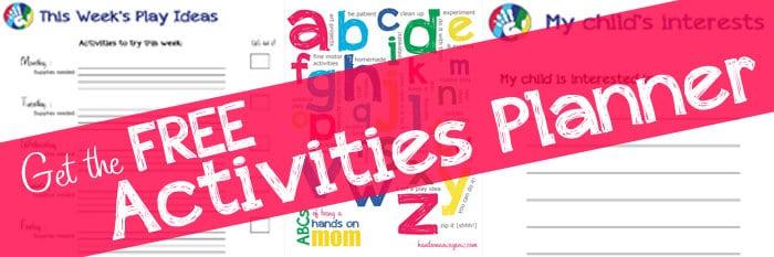FREE Printable Kids Activities Planner!