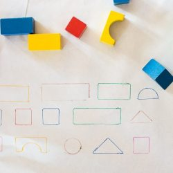 Sorting Blocks and Matching by Shape Activity for Toddlers
