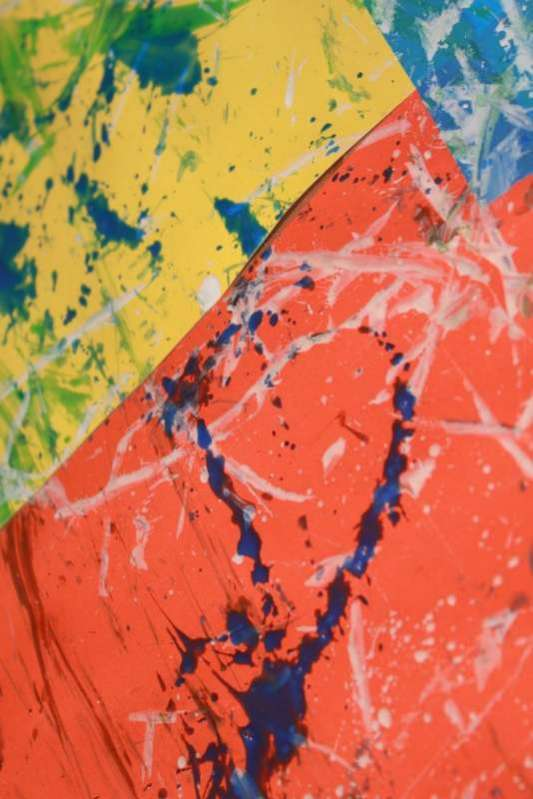 Big Art Project for Toddlers: Ribbon Painting