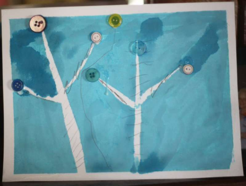 Birch Tree Art & Help Reforest for Arbor Day