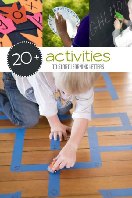 Start learning letters with your toddler! You'll love these 20+ activities that make it simple to have fun and learn together.
