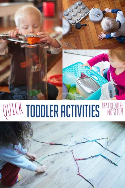 Try these quick toddler activities for fast and easy activities to do whenever!