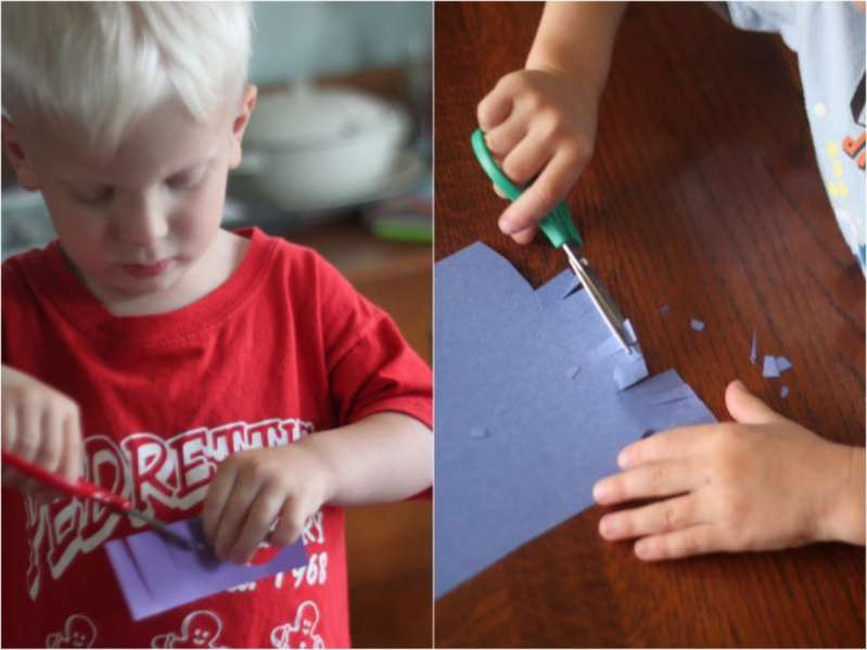 Super simple Confetti Sprinkled DIY Candy Bar Wrappers for kids to make on Father's Day
